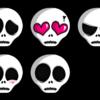 Emoticones de Calaveras PNG