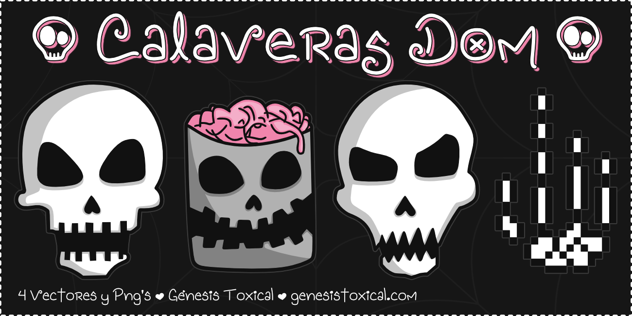 Set de Calaveras Animadas