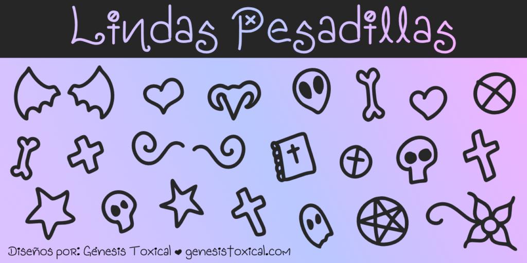 Outlines Pastel Goth | Lindas Pesadillas
