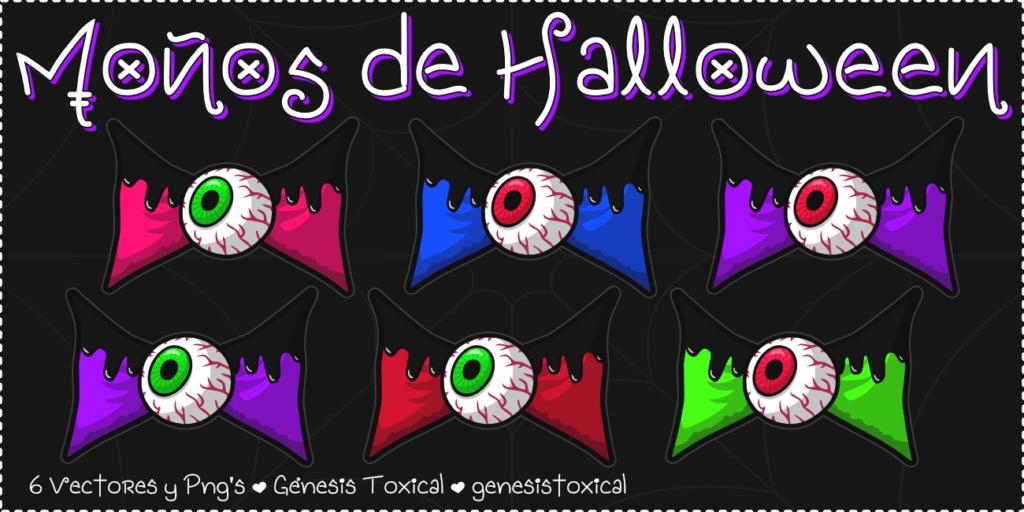 Moños de Halloween | Moñitos con Ojos