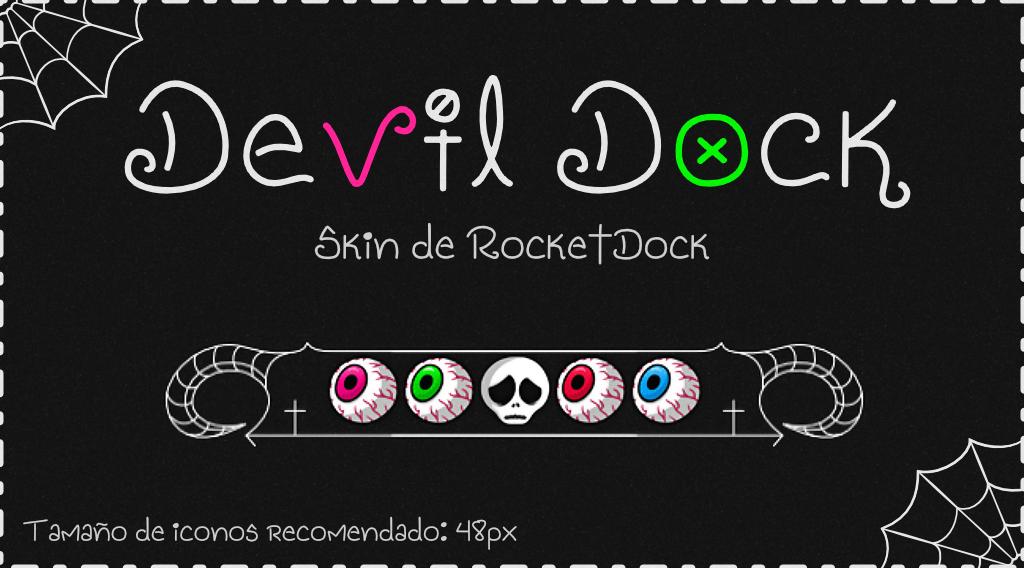 Skin RocketDock Gótico | Devil Dock