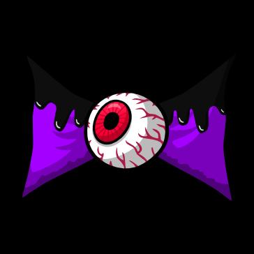 Moño de Halloween PNG