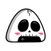 Onigiri Kawaii Halloween PNG