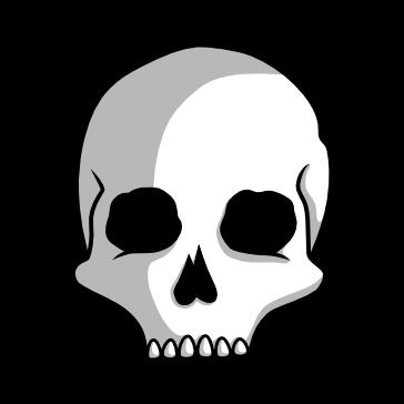 Cráneo Vector PNG