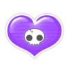Corazón Goth PNG