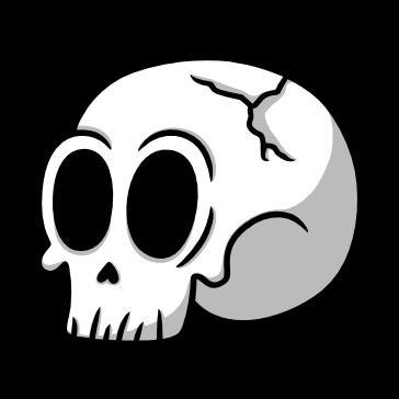 Cráneo Animado Roto