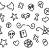 Pastel Goth Outlines PNG