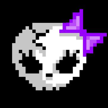 Calavera Cute Pixel Art