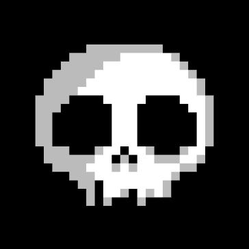 Calavera Pixel Art PNG