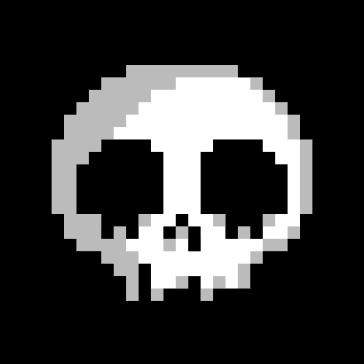 Calavera Pixel Art Vector PNG